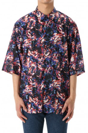 FACTOTUM 20SS Rexell Psychedelic wide S/S Shirts -Black