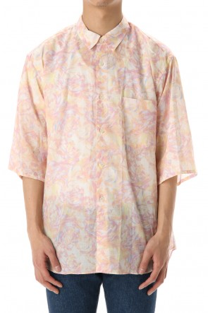 FACTOTUM 20SS Rexell Psychedelic wide S/S Shirts - White