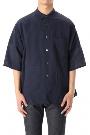 FACTOTUM 20SS Washi/C Gauze wide S/S Shirts -Navy