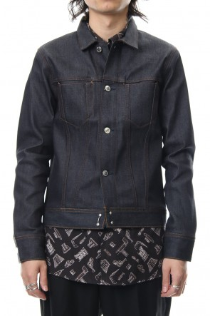 FACTOTUM 18-19AW Rigid denim G jacket - Indigo