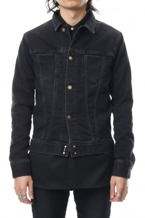 FACTOTUM 18-19AW E Denim Processing G jacket - black