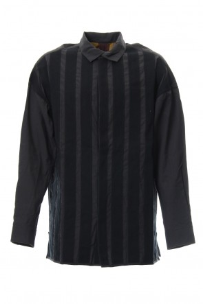 ZIGGY CHEN 18-19AW No Collar Stripe Shirts 0M1830705