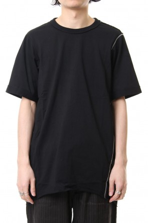 ZIGGY CHEN 19SS Stitch design Shot sleeve T-shirts 0M191 0211