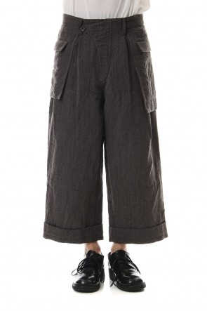 ZIGGY CHEN 19-20AW Big Pocket Cropped Pants Gray