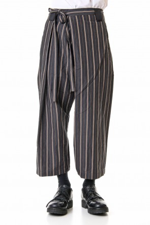 ZIGGY CHEN 19SS Striped Relax cropped pants 0M191 0523
