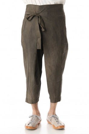 ZIGGY CHEN 20SS Asymmetry Cropped Thai pants