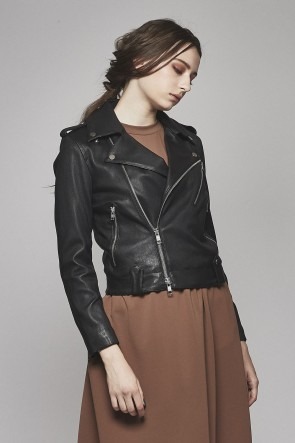 Bonding Lamb leather Double Riders Jacket