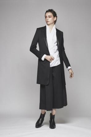 Tuxedo Cloth Stretch Long Jacket