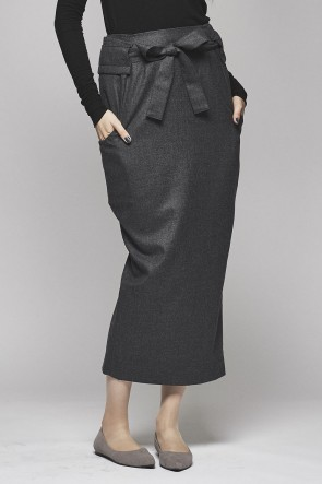 Top Wool Smooth Flannel Skirt  DK12-07-S03