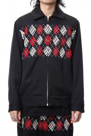 amok 18-19AW FAKE ARGYLE JACKET - 18021042 - BLACK