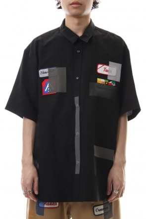 amok 19SS TAPE COVER SHIRTS - 19011023 - Black