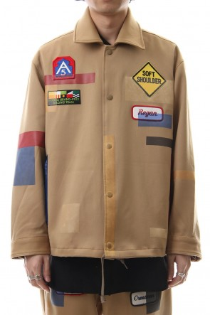 amok 19SS TAPE COVER COACH JACKET - 19011043 - Beige