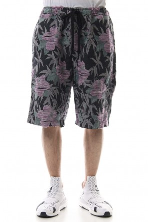 amok 19SS TROPICAL JACQUARD SHORTS - 19011061 - Black