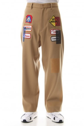 amok 19SS TAPE COVER PANTS - 19011063 - Beige
