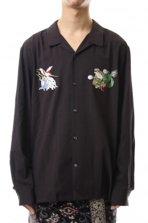 amok 19-20AW DICHOTOMIC EMBROIDERY SHIRTS - Black