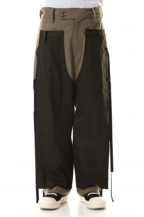 amok 19-20AW DICHOTOMIC DOCKING PANTS - Khaki