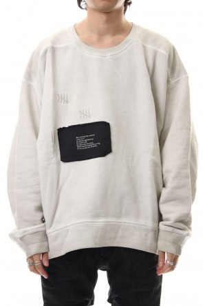 HAMCUS 19-20AW Damage Printed Sweat Dirty White