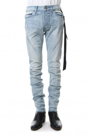 FAGASSENT 19SS SEIGEKI -青激- Blue bleached jean with faintly white sprayed