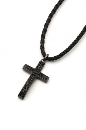 IVXLCDM  IVXLCDM PAVES CROSS LOOPTIE PENDANT