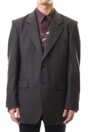 JOHN LAWRENCE SULLIVAN 20SS WOOL BACK BUTTONED JACKET