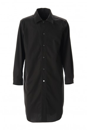 Yamauchi 20SS Hybrid cotton Shirt coat Black