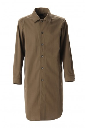 Yamauchi 20SS Hybrid cotton Shirt coat Khaki