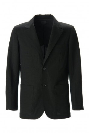 Yamauchi 20SS Salt shrink processing Tailored jacket Black