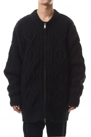 CLANE HOMME 19-20AW CABLE BOA KNIT BLOUSON