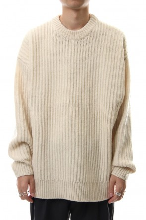 CLANE HOMME 19-20AW ZIP KNIT TOPS White