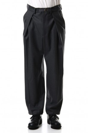 CLANE HOMME 19-20AW 1TUCK WIDE PANTS Gray