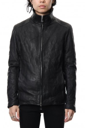 wjk 18-19AW Stand collar single blouson - Black