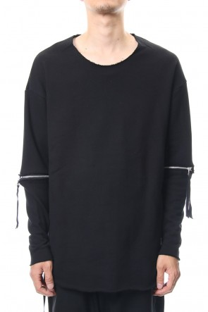 ASKyy 18-19AW Removable Sleeves Pullover  - blkblk