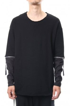 ASKyy 18-19AW Removable Sleeves Pullover  - blk/flblk
