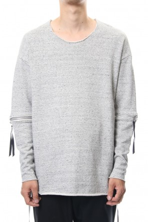 ASKyy 18-19AW Removable Sleeves Pullover  - snowgray
