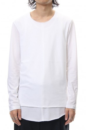 ASKyy 18-19AW Layered Cutsew L/S - white