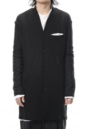 ASKyy 18-19AW Layered Long Cardigan - blk/wht