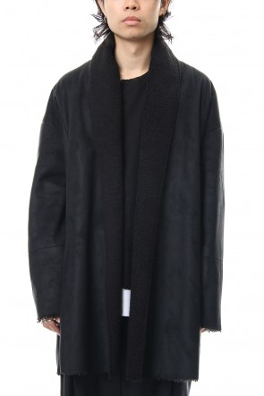 ASKyy 18-19AW Fake Mouton Coat (SHORT) - blk/blk