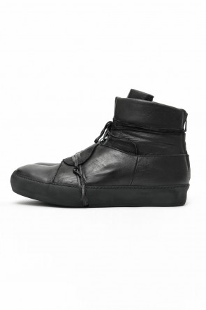 Cow Leather Back Zip Sneakers