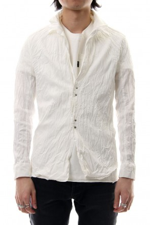 wjk 19SS linen hook shirt white