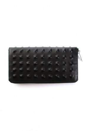 MIHARAYASUHIRO Classic Invisible Studs Long Wallet Black