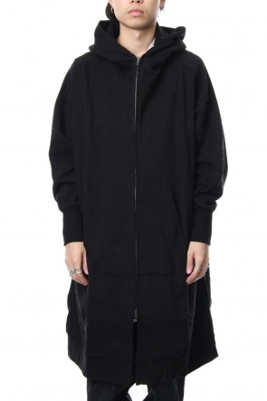 JULIUS 18-19AW Combination Over Zip Up Hoodie