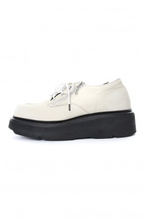 JULIUS 19PS DOUBLE ZIP THICK-SOLED SHOES Ivory