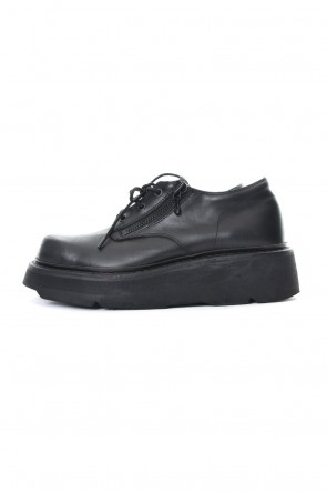 JULIUS 19PS DOUBLE ZIP THICK-SOLED SHOES Black