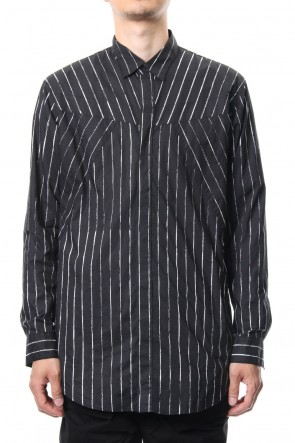 JULIUS 19PS SEAMED SHIRT Stripe