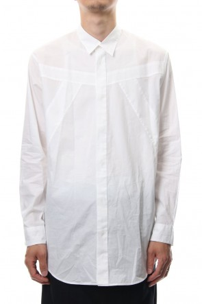JULIUS 19PS SEAMED SHIRT White