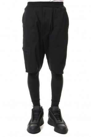 JULIUS 19SS MILITARY LEG POCKET EASY PANTS Black