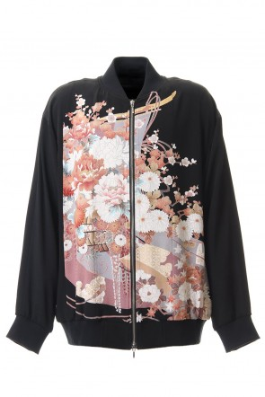 RONDO.ym 20SS Silk Georgette Cherry blossoms Dyed Blouson