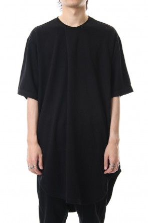 JULIUS 19PF TUCKED T-SHIRT Black
