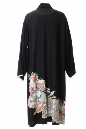 RONDO.ym 20SS Silk Georgette Gruidae Peony Embroidery Coat
