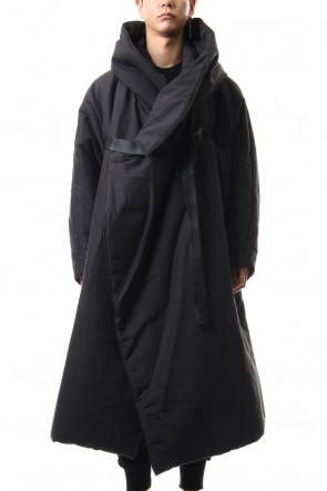 JULIUS 19-20AW FIXED HOODED OVERCOAT